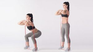 banded bodyweight squat