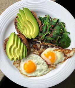 eggs and avocado